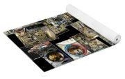 Interior Russian Submarine Vert Collage Yoga Mat