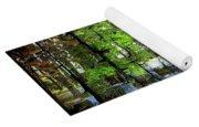 Ireland Stone Wall And Trees Yoga Mat
