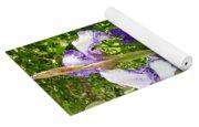 Iris Flowers Yoga Mat