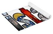 Istanbul Word Montage Yoga Mat