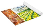 Italy Sketches Sunflowers Of Tuscany Yoga Mat