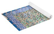 Iznik Ceramics With Floral Design Yoga Mat