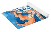 Jester With Snowflakes Yoga Mat