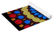 Kaleidoscope Of Colorful Embroidery Yoga Mat