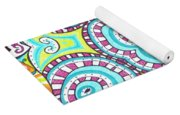 Kaleidoscopic Whimsy Yoga Mat