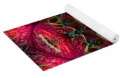Kaleidscope Made From Image Of Coleus Plant Yoga Mat