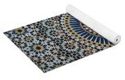 Kasbah Of Thamiel Glaoui Zellij Tilework Detail  Yoga Mat