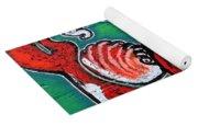 Koi Fish And Water Lily Yoga Mat