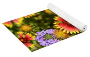 Lady Bird And Her Flowers Yoga Mat