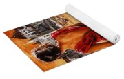 Lady In Red  34 -  I Love Budapest Yoga Mat