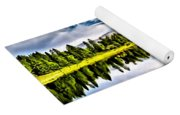 Lake In The Mountains Yoga Mat