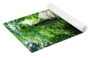 Leafy Path And Statuary Abby Aldrich Garden Yoga Mat