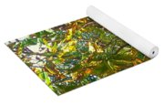 Leafy Tree Bark Image Yoga Mat