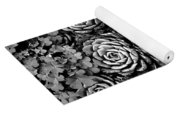 Leaves And Succulents Yoga Mat