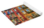 Led Zeppelin Physical Graffiti Building In Color Yoga Mat