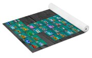 License Plate Art Recycled Periodic Table Of The Elements By Design Turnpike Yoga Mat