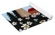 Lighthouse And Daisies Yoga Mat