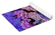 Lilacs And Queen Anne's Lace In Pink And Purple Yoga Mat