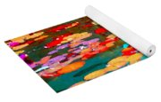 Lily Pads And Koi Colorful Water Garden In Bloom Waterlilies At The Lake Quebec Art Carole Spandau  Yoga Mat