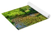 Lily Pond And Colorful Gardens Yoga Mat