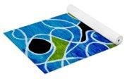 Linework Blue Yoga Mat