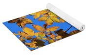 Looking Up To Yellow Leaves Yoga Mat