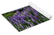 Lupine By The Fence Yoga Mat
