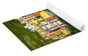 Manarola Flowers And Houses Yoga Mat