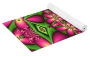 Mandala Green And Pink Yoga Mat