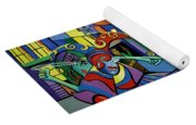 Mardi Gras Lets Get The Party Started Yoga Mat