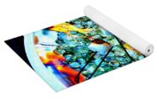 Marshmallow Fire Abstract Yoga Mat