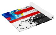 Max Stars And Stripes In Quad Colors Yoga Mat