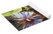 Mirrored Lilies Yoga Mat