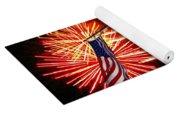 Miss Liberty And Fireworks Yoga Mat