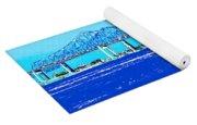 Mississippi River Bridge Poster Yoga Mat
