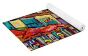 Monkland Tavern Corner Old Orchard Montreal Street Scene Painting Yoga Mat
