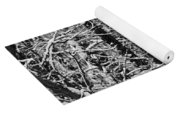 Monochrome Winter Wilderness Yoga Mat