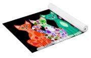 More Colorful Kitties Yoga Mat
