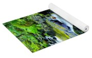 Mossy Rocks And Moving Water  Yoga Mat