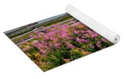 Mountains And Wildflowers Yoga Mat