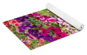 Multi-colored Blooming Petunias Background Yoga Mat