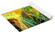 Multi-colored Croton Yoga Mat