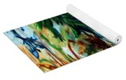 Music In Bird Of Tree Drip Painting Yoga Mat