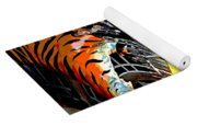 Mystic Stripers Tiger Emblem Abstract Yoga Mat