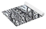 Natures Ice Sketch Abstract Yoga Mat