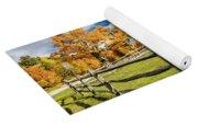 New England Farm With Autumn Sugar Yoga Mat