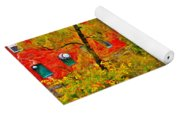 New England Stream In Fall Yoga Mat