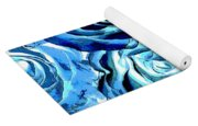 Pop Art Blue Roses Yoga Mat