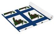 Newfoundland Tartan Map Blocks Blue Trim Yoga Mat