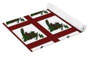 Newfoundland Tartan Map Blocks Red Trim Yoga Mat